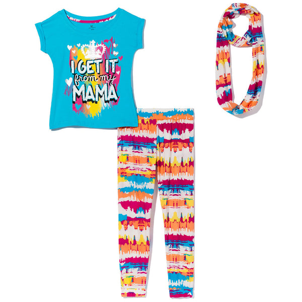 I Get It From My Mama Girls 3-Piece Legging Set - Citi Trends Girls - Front