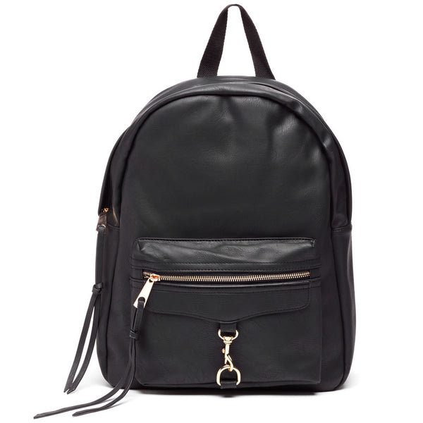 Style On The Move Black Backpack - Citi Trends Accessories - Front