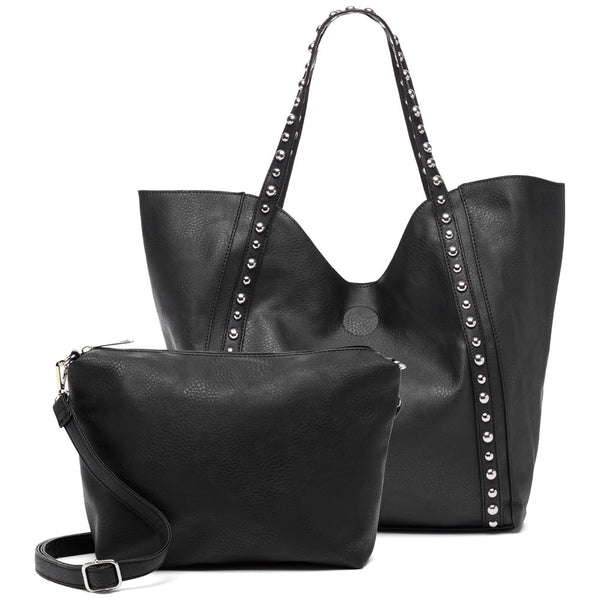 Stud-Y Buddy Black 2-Piece Tote Set - Citi Trends Accessories - Front