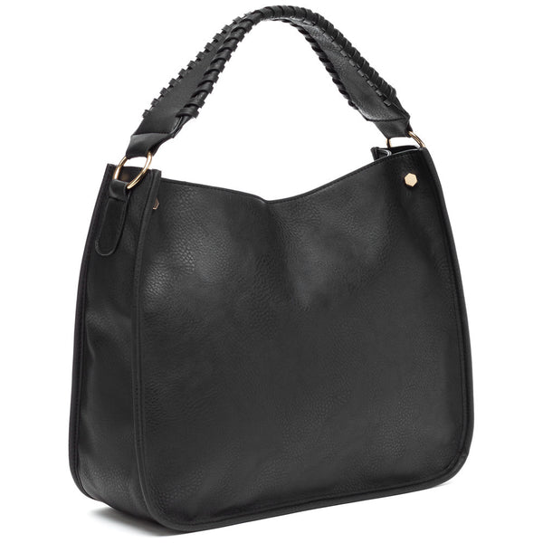 Braided Beauty Black Hobo Bag - Citi Trends Accessories - Side