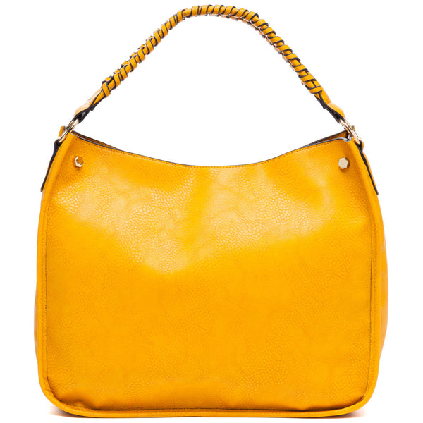 Braided Beauty Mustard Hobo Bag - Citi Trends Accessories - Front
