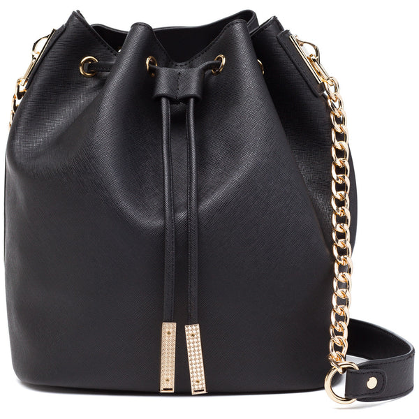 In A Cinch Black Bucket Bag - Citi Trends Accessories - Front