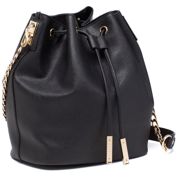 In A Cinch Black Bucket Bag - Citi Trends Accessories - Side
