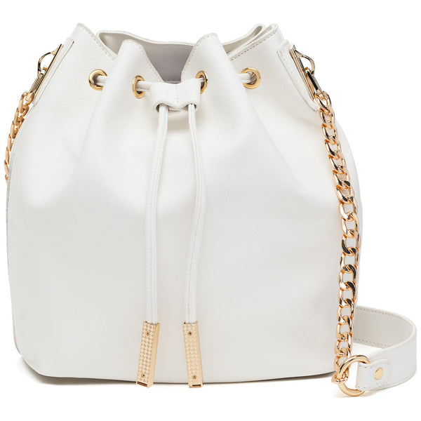 In A Cinch White Bucket Bag - Citi Trends Accessories - Front