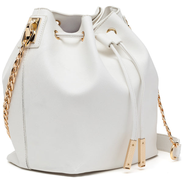 In A Cinch White Bucket Bag - Citi Trends Accessories - Side