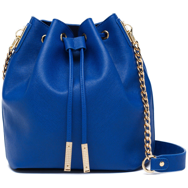 In A Cinch Cobalt Blue Bucket Bag - Citi Trends Accessories - Front