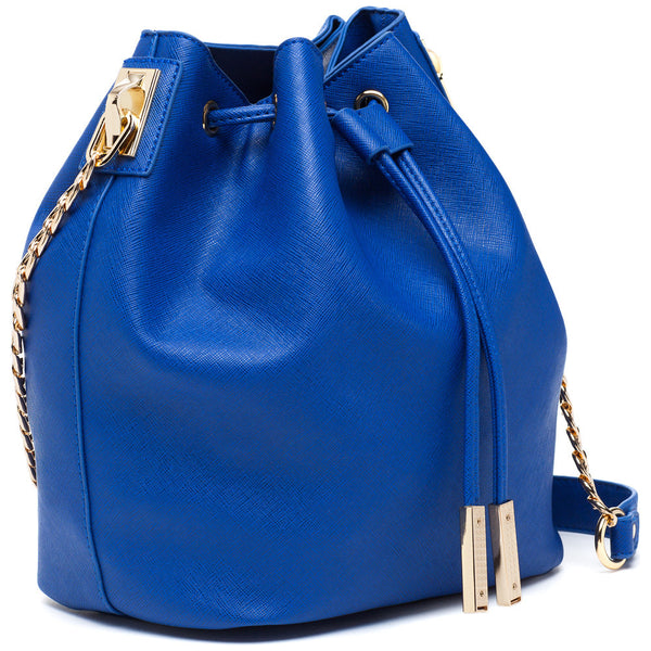 In A Cinch Cobalt Blue Bucket Bag - Citi Trends Accessories - Side