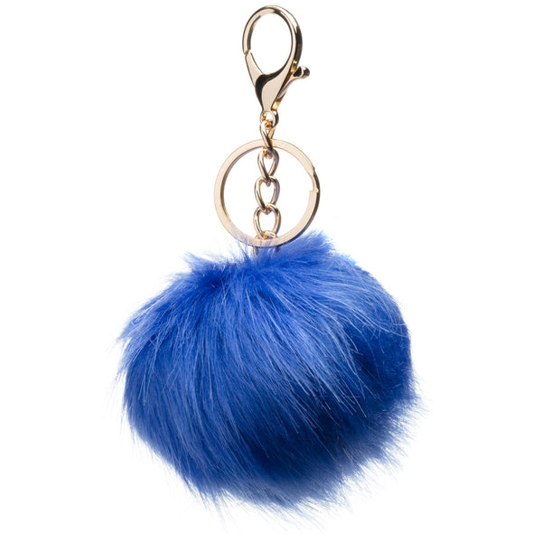 Whatever You Pre-Fur Cobalt Pom Pom Keychain - Citi Trends Accessories - Front