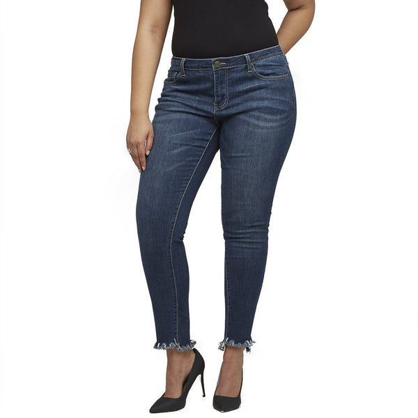 Fray For Thought Skinny Jean - Citi Trends Plus - Front