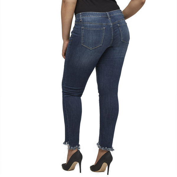 Fray For Thought Skinny Jean - Citi Trends Plus - Back