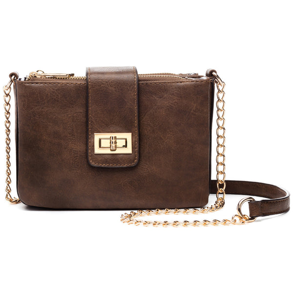 Think Outside The Box Chain-Strap Crossbody - Citi Trends Accessories - Front