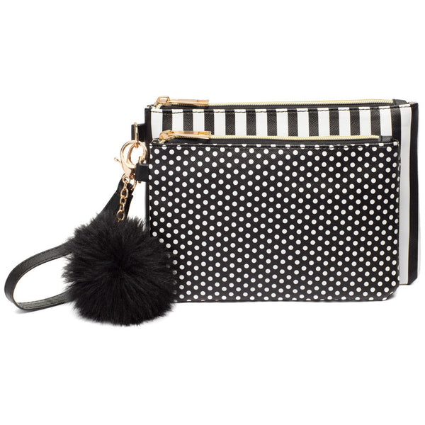 Get In The Mix 2-Piece Pom Pom Wristlet Set - Citi Trends Accessories - Front
