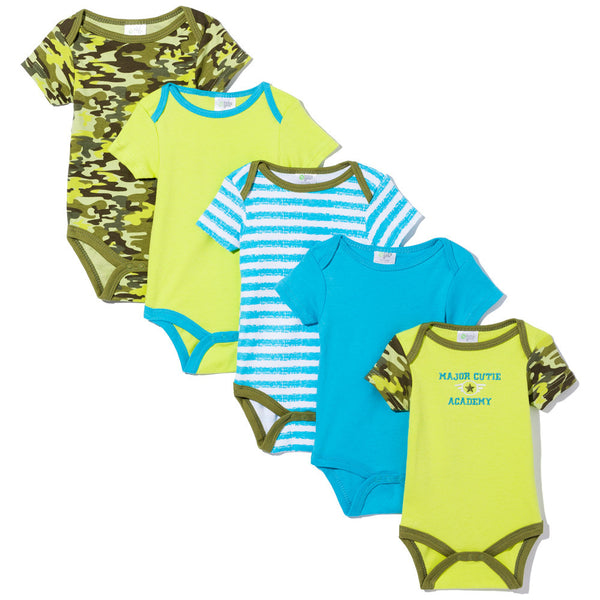 Major Cutie Academy Boys 5-Piece Creeper Set - Citi Trends Baby - Front