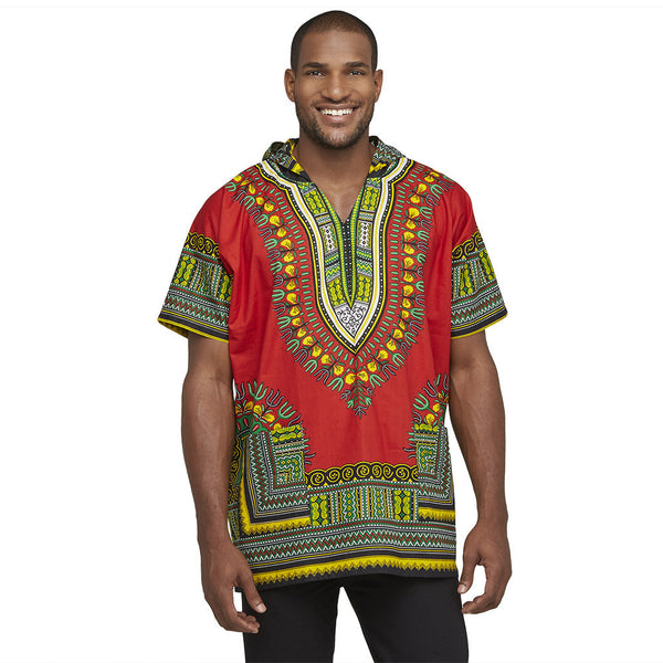 Go For The Bold Red Dashiki Hoodie - Citi Trends Mens - Front