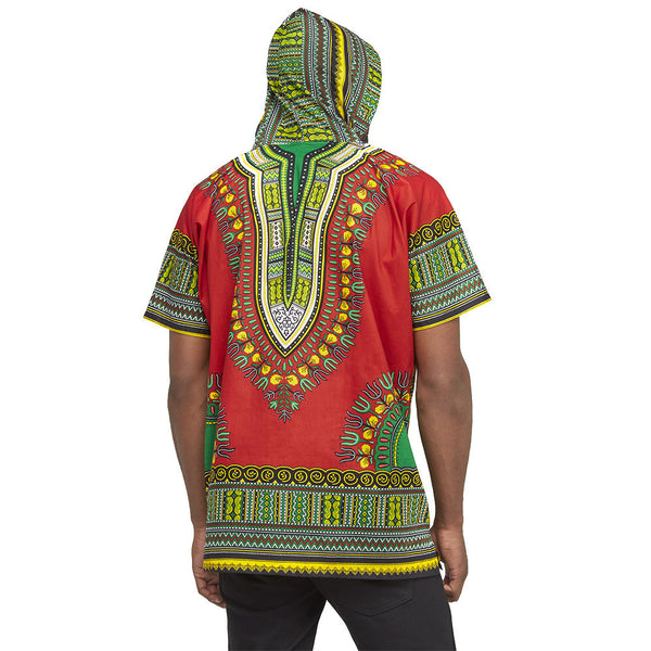 Go For The Bold Red Dashiki Hoodie - Citi Trends Mens - Back