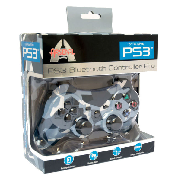 Print At Play Camouflage PS3 Bluetooth Controller Pro - Citi Trends Home - Box Front