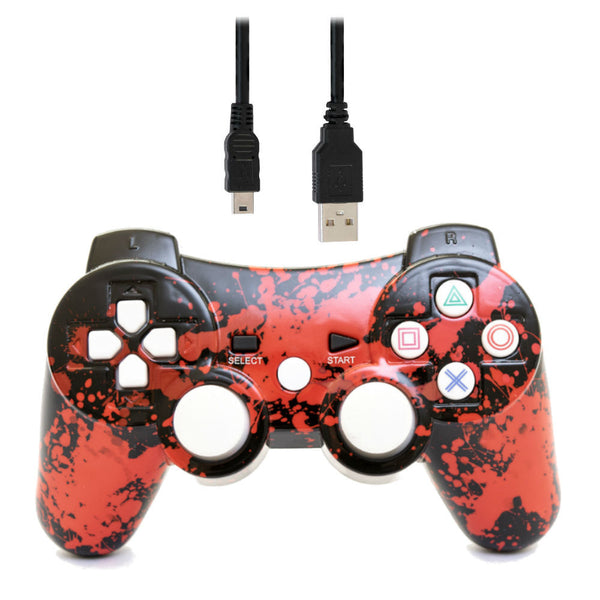 Print At Play Paint Splatter PS3 Bluetooth Controller Pro - Citi Trends Home - Top