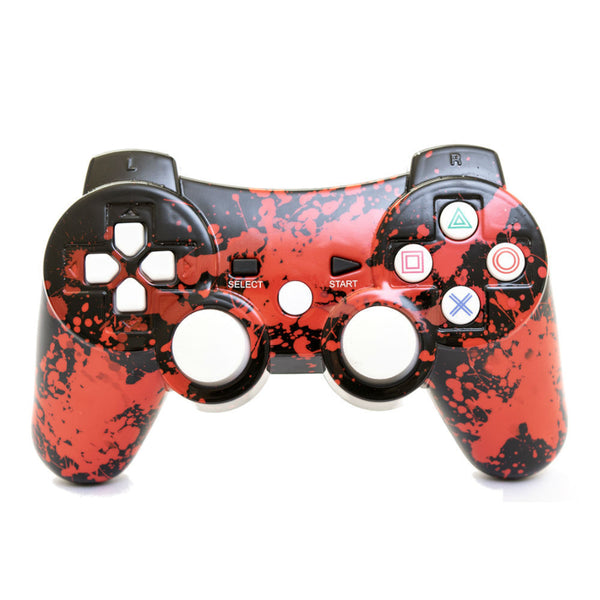 Print At Play Paint Splatter PS3 Bluetooth Controller Pro - Citi Trends Home - Front