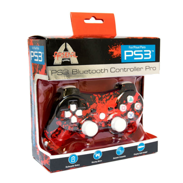 Print At Play Paint Splatter PS3 Bluetooth Controller Pro - Citi Trends Home - Box Front