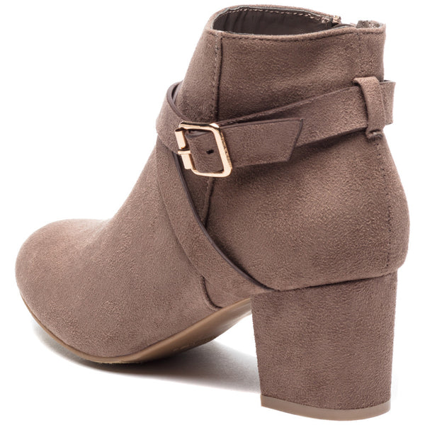 Crossroads Taupe Faux Suede Bootie - Citi Trends Shoes - Back