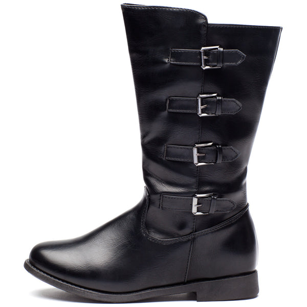Walking Tall Girls Black Moto Boot - Citi Trends Girls - Side