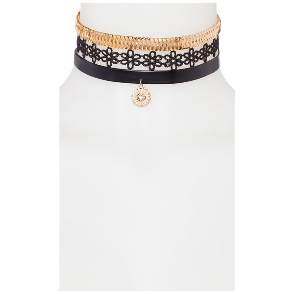 Drive Me Daisy 3-Piece Choker Set - Citi Trends Accessories - Front