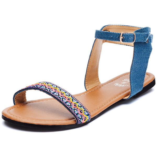 Denim Darling Girls Ankle Strap Sandal - Citi Trends Girls - Front