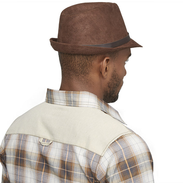 Back On Top Brown Faux Suede Fedora - Citi Trends Mens - Back