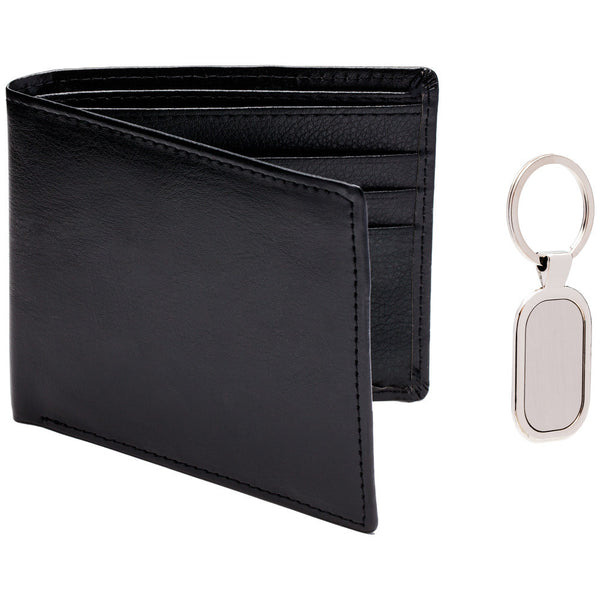 Pair Point Black Leather Wallet And Keychain Set - Citi Trends Mens - Front