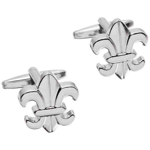 It's All In The Wrist Silver Fleur De Lis Cufflinks - Citi Trends Mens - Front
