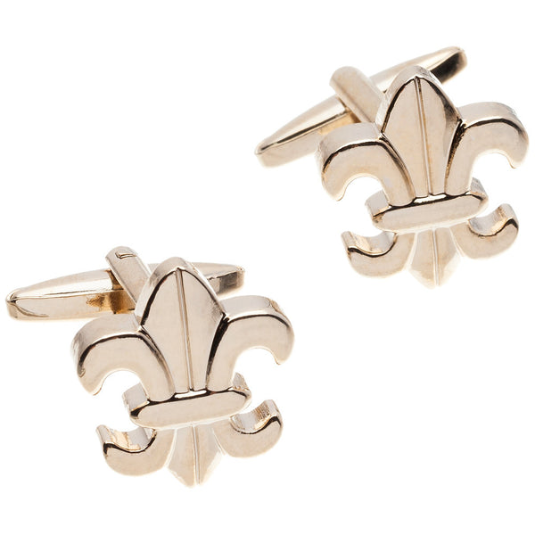 It's All In The Wrist Gold Fleur De Lis Cufflinks - Citi Trends Mens - Front