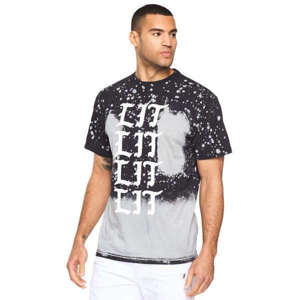 Paint And Splash Black Lit Graphic Tee - Citi Trends Men - Front