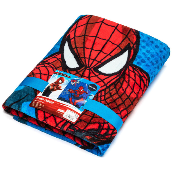 The Amazing Spider-Man Plush Throw Blanket - Citi Trends Home - Wrapped Front
