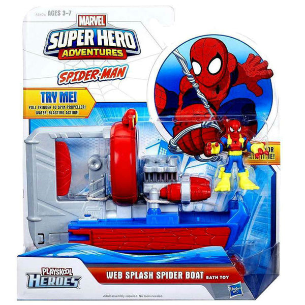Marvel Super Hero Adventures Web Splash Spider Boat Bath Toy - Citi Trends Home - Boxed Front