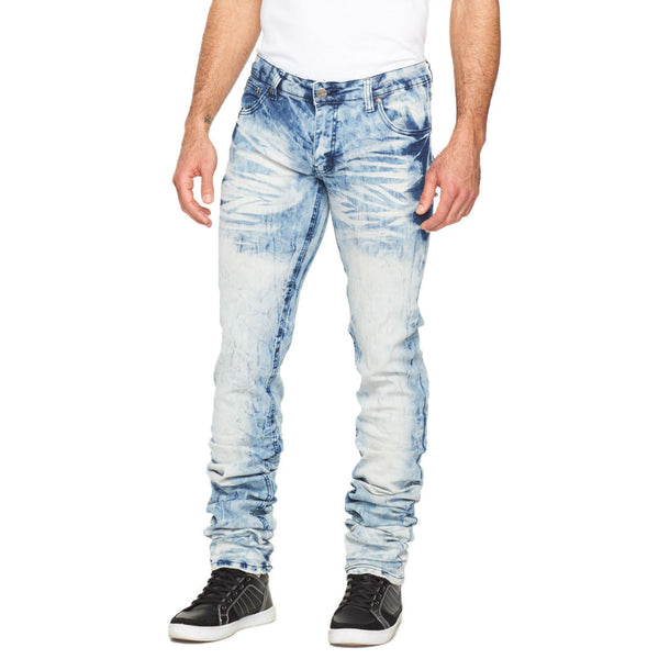 Stacked In Your Favor Blue Tinted Jean - Citi Trends Mens - Front