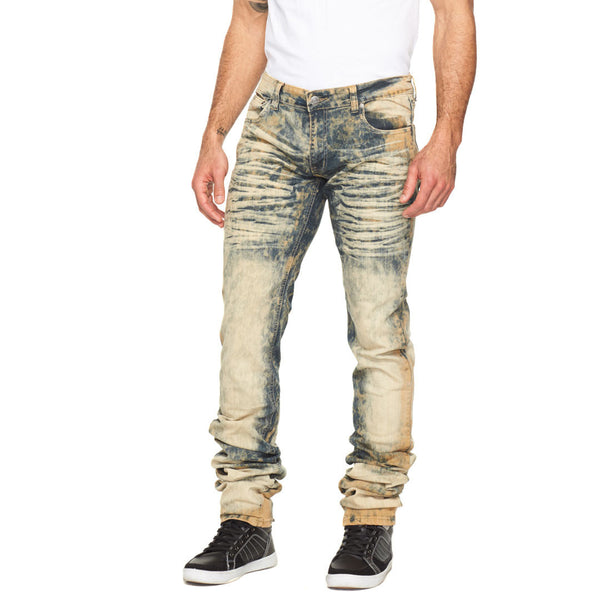 Stacked In Your Favor Sahara Wash Jean - Citi Trends Mens - Front