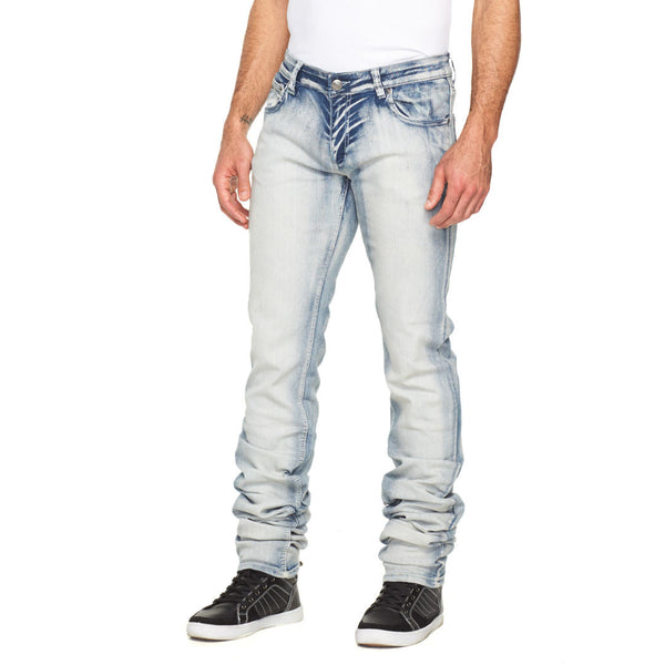 Stacked In Your Favor Ice Wash Jean - Citi Trends Mens - Front