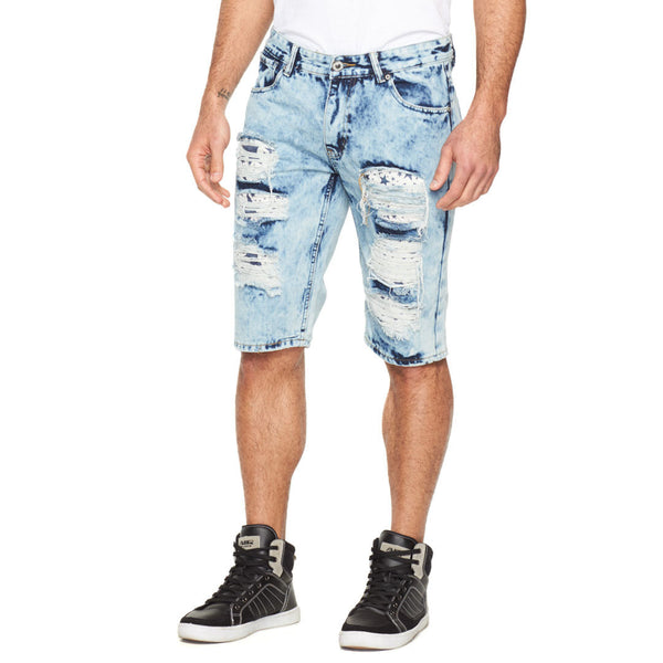 Seeing Stars Rip And Repair Denim Short - Citi Trends Mens - Front