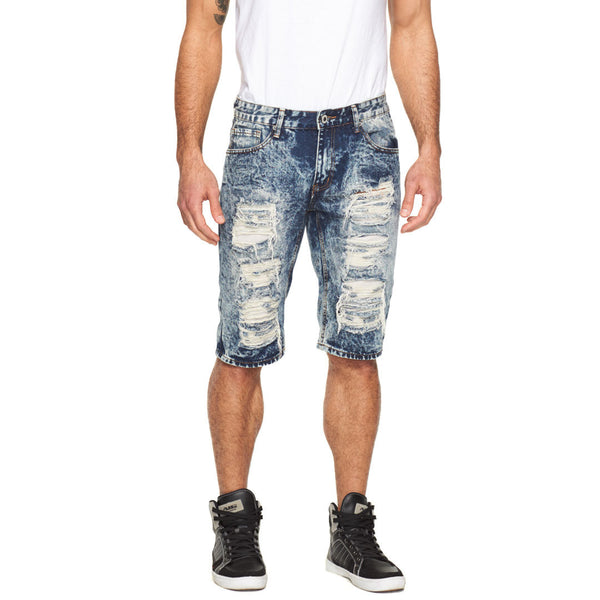 Shreddy For The Weekend Rip And Repair Denim Short - Citi Trends Mens - Front