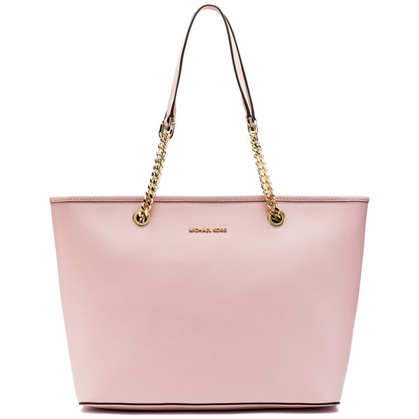 MICHAEL Michael Kors Blossom Pink Jet Set Travel Chain Tote - Citi Trends Designer - Front
