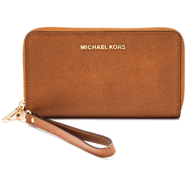 MICHAEL Michael Kors Luggage Jet Set Travel Flat Multifunction Wallet - Cititrends Designer - Front