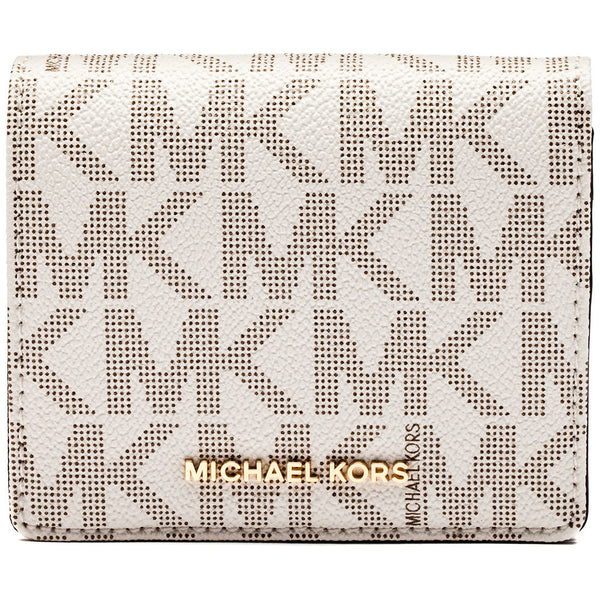 Michael Michael Kors Vanilla Jet Set Travel Logo Carryall Card Case - Cititrends Designer - Front