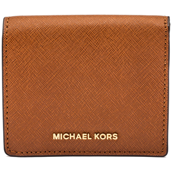 Michael Michael Kors Luggage Jet Set Travel Logo Carryall Card Case - Cititrends Designer - Front
