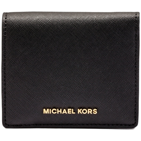 Michael Michael Kors Black Jet Set Travel Logo Carryall Card Case - Cititrends Designer - Front