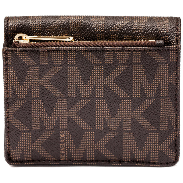 Michael Michael Kors Brown Jet Set Travel Logo Carryall Card Case - Cititrends Designer - Back