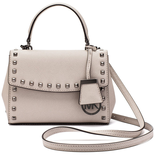 Michael Michael Kors Cement Ava Studded Cross Body Bag - Cititrends Designer - Front