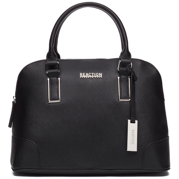 Kenneth Cole Reaction Black Mirror Master Dome Satchel - Citi Trends Designer - Front