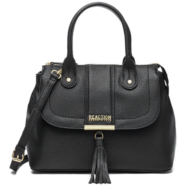 Kenneth Cole Reaction Black Norway Satchel - Citi Trends Designer - Front