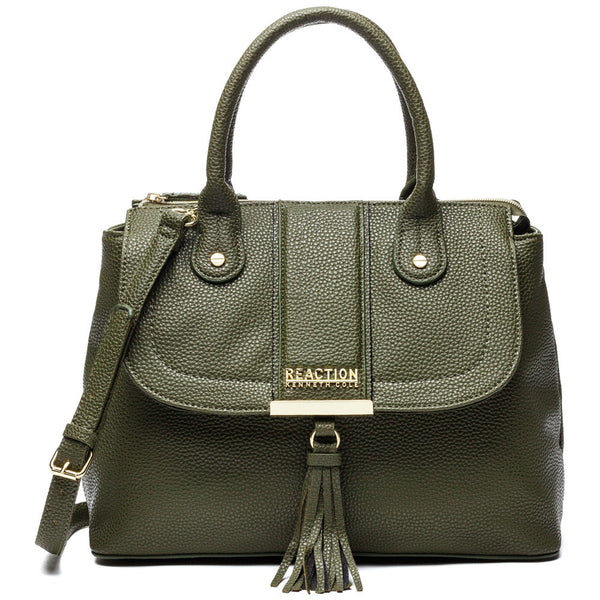 Kenneth Cole Reaction Olive Norway Satchel - Citi Trends Designer - Front