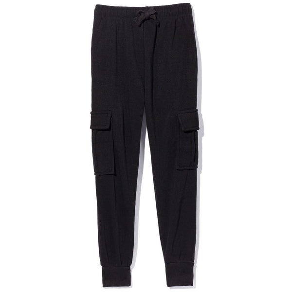 Master The Basics Boys Black Cargo Fleece Jogger - Citi Trends Boys - Front